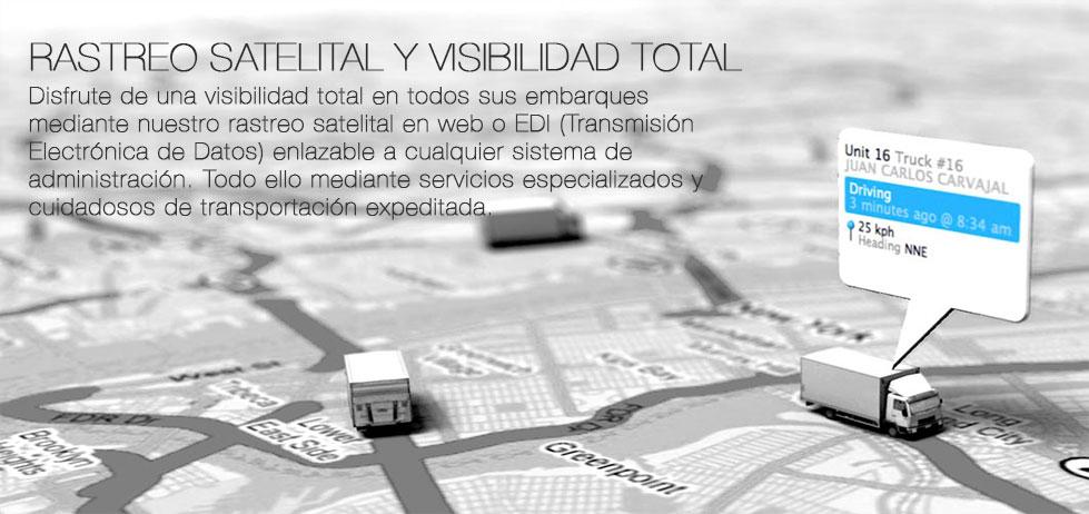 RASTREO SATELITAL Y VISIBILIDAD TOTAL